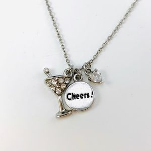 COOKIE LEE Martini Glass Necklace